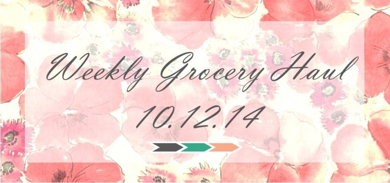 Weekly Grocery Haul 10.12.14