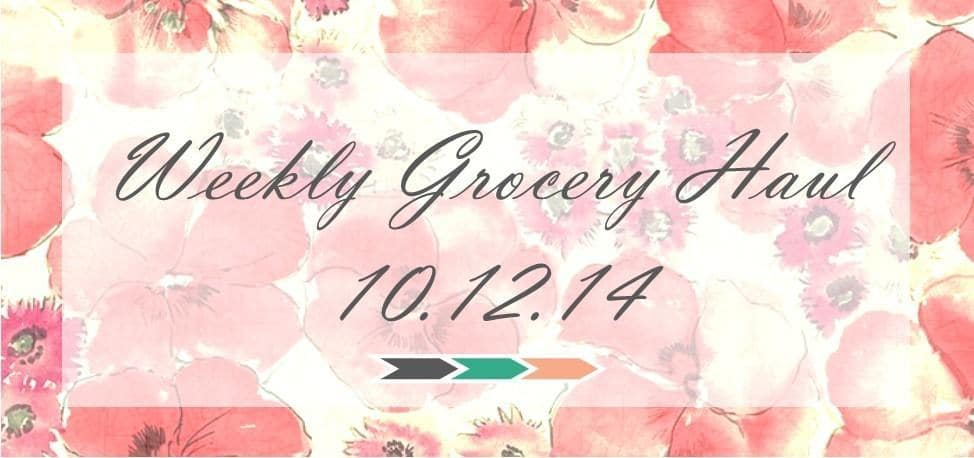 Weekly Grocery Haul: 10/12/14
