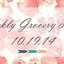 Weekly Grocery Haul: 10/19/14