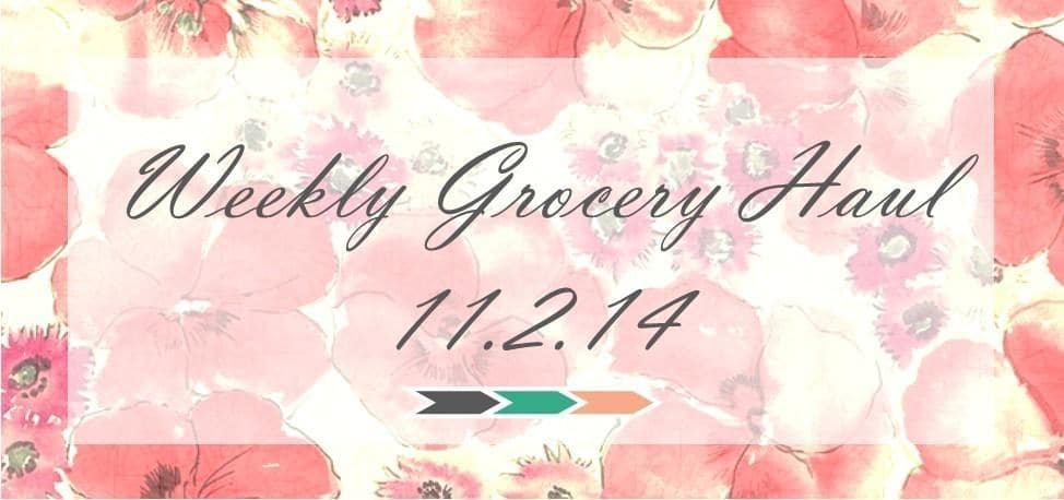 Weekly Grocery Haul: 11/2/14