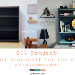 DIY Project: Upcycled Bookshelf for the Kitchen