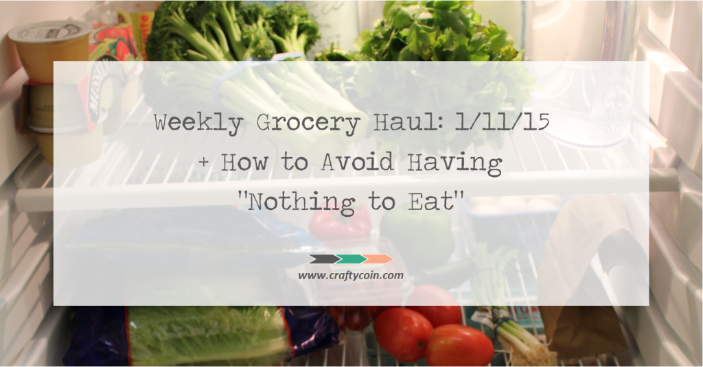 Weekly Grocery Haul 1.11.15 + How to Avoid Having Nothing to Eat