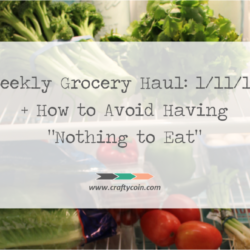 "Weekly Grocery Haul: 1/11/15 + How to Avoid Having ""Nothing to Eat"""