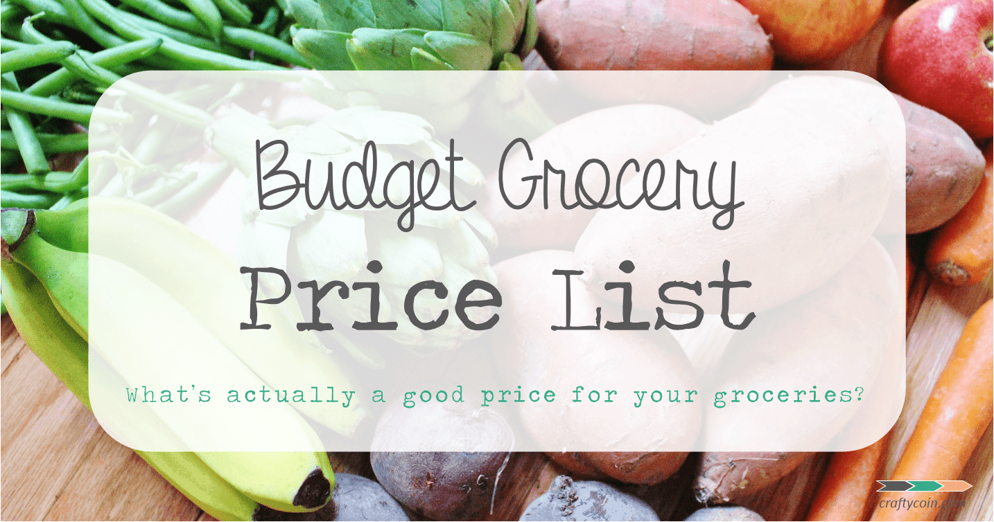 budget grocery price list - crafty coin