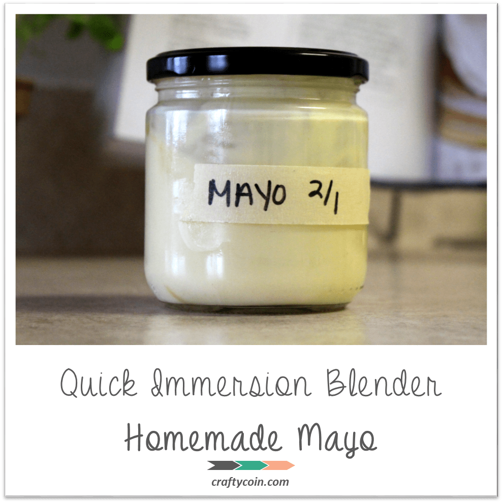 Quick Immersion Blender Homemade Mayo