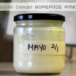 Quick Immersion Blender Homemade Mayo (with video!)
