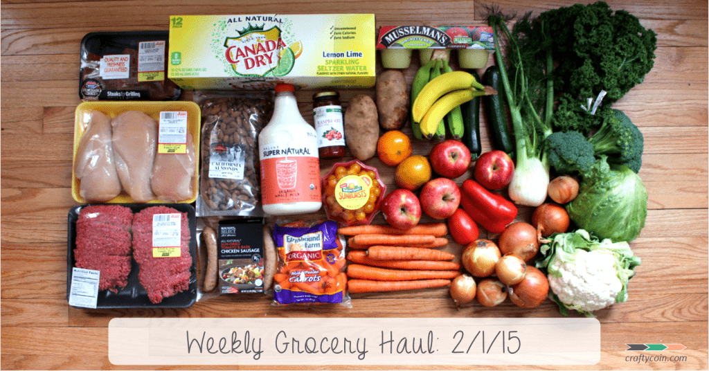 Weekly Grocery Haul: 2/1/15 - Crafty Coin