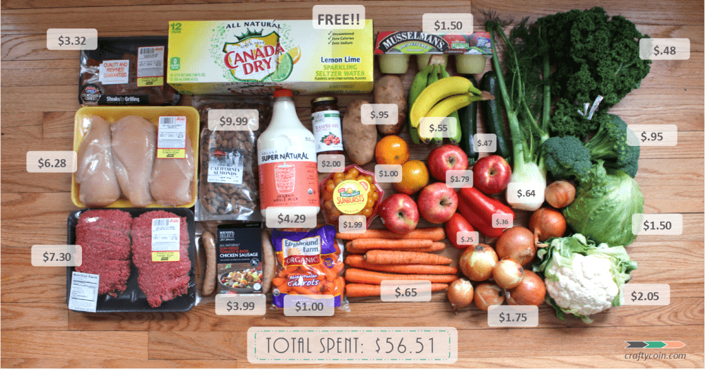 Weekly Grocery Haul 2.1.15 Total Spent $56.51