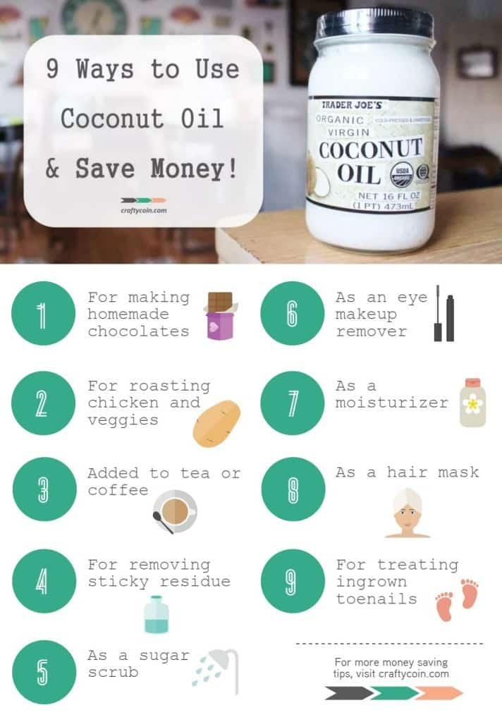 9 Ways to Use Coconut Oil & Save Money