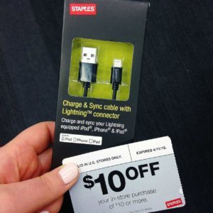 Staples - iPhone Cable Cord Charger