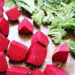 Easy Roasted Beets and Kale Chips – $.50 per serving