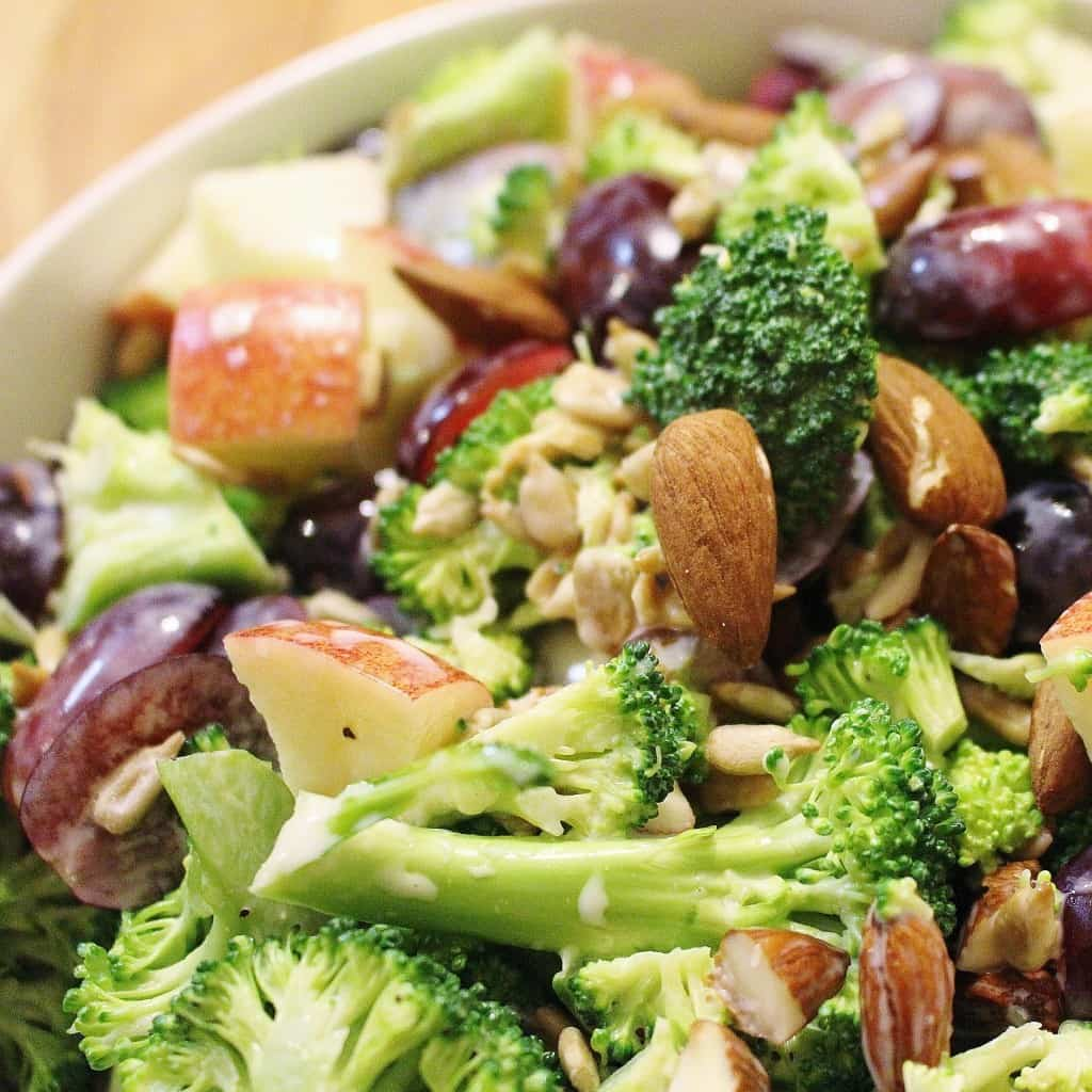 Fruit and Nut Broccoli Salad (Paleo and Whole30 friendly)