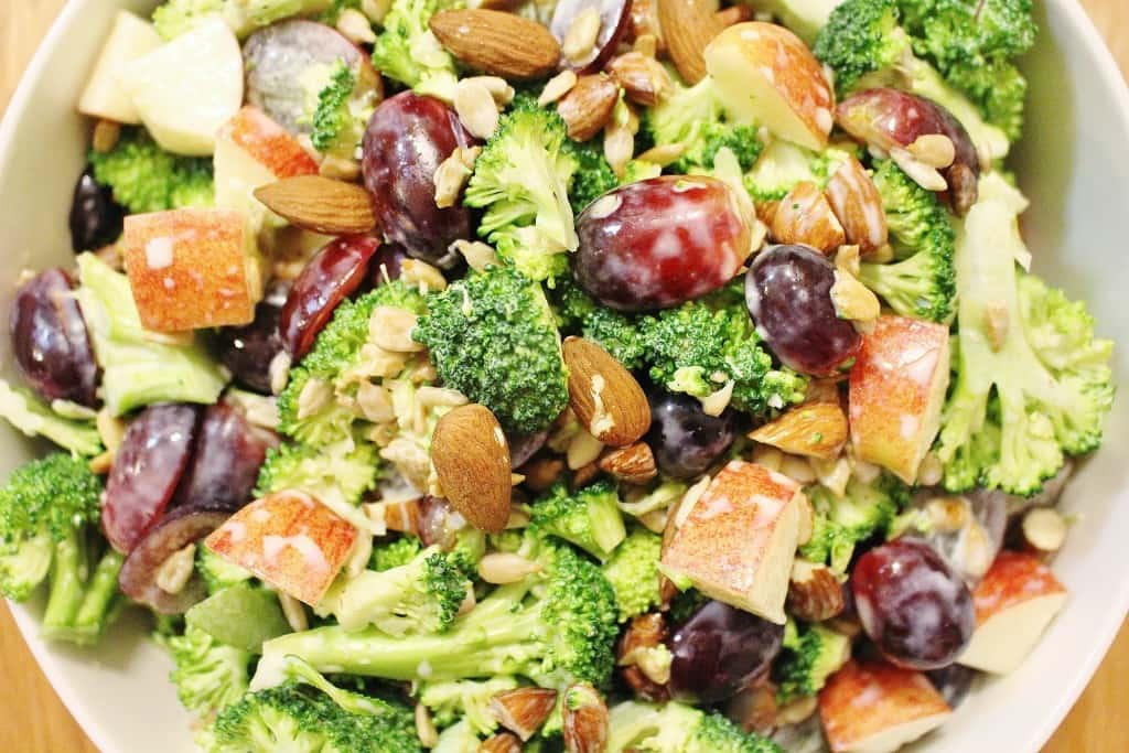 Fruit and Nut Broccoli Salad
