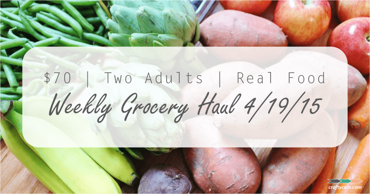 ALDI Grocery Haul 4.19.15