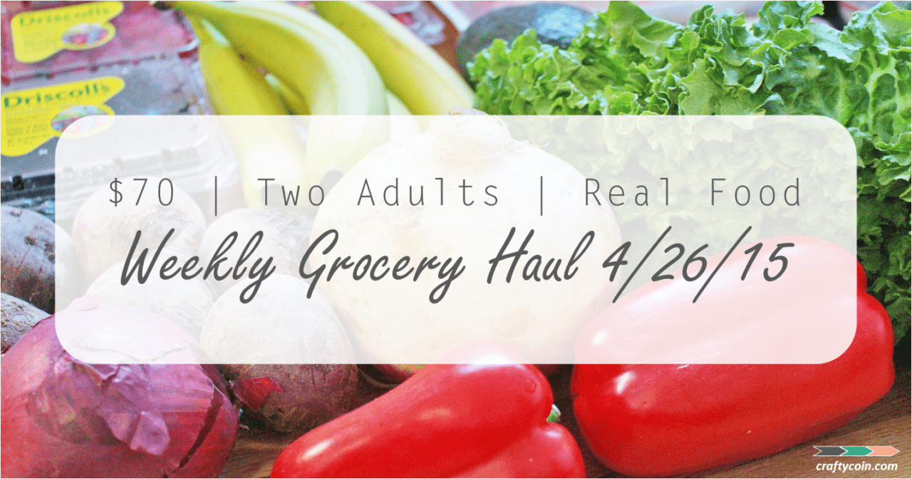 Weekly Grocery Haul 4.26.15 Real Food