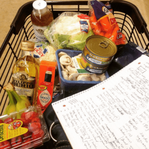 Grocery Cart with Planning Notebook