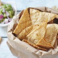 Oven Baked Tortilla Chips in 12 Minutes – $.07 per serving