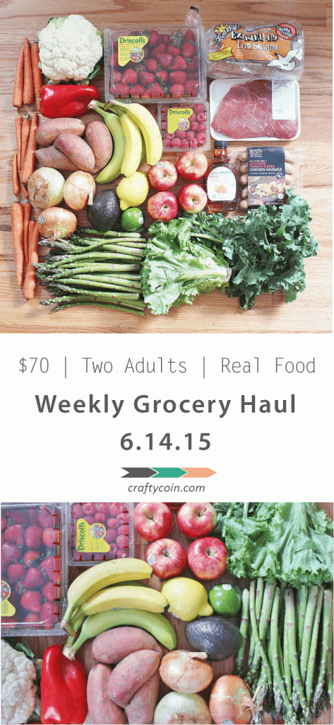This week's grocery haul only cost $40! Who says eating healthy has to be expensive? | Crafty Coin #healthy #realfood #frugal #groceryhaul