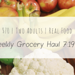 Real Food Grocery Haul // Week of 7.19.15