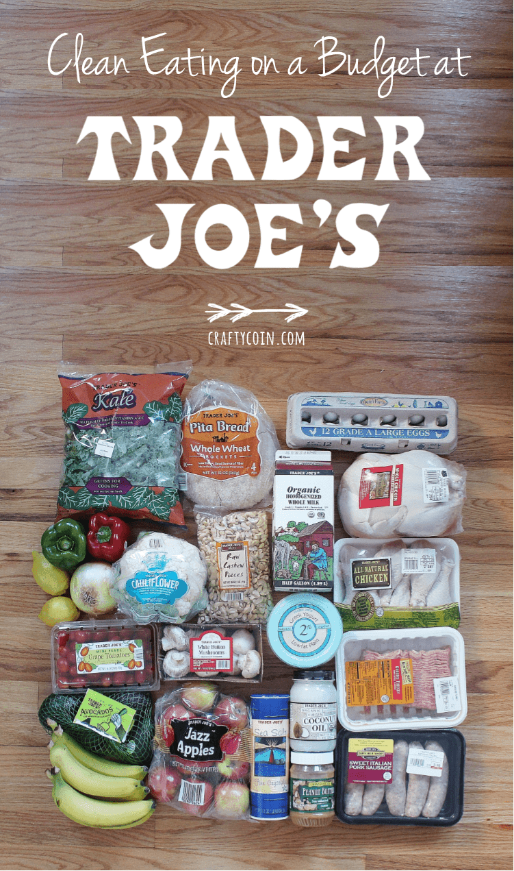 Eating healthy on a budget is totally possible! Here's what I buy at Trader Joe's for $70.