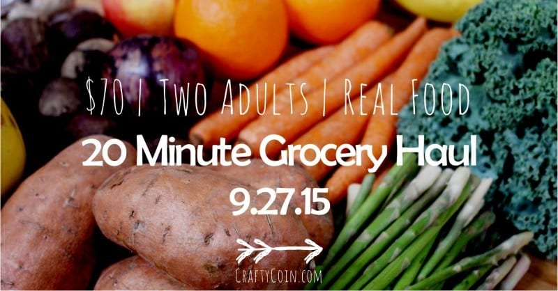 20 Minute Grocery Haul 9.27.15 by Crafty Coin