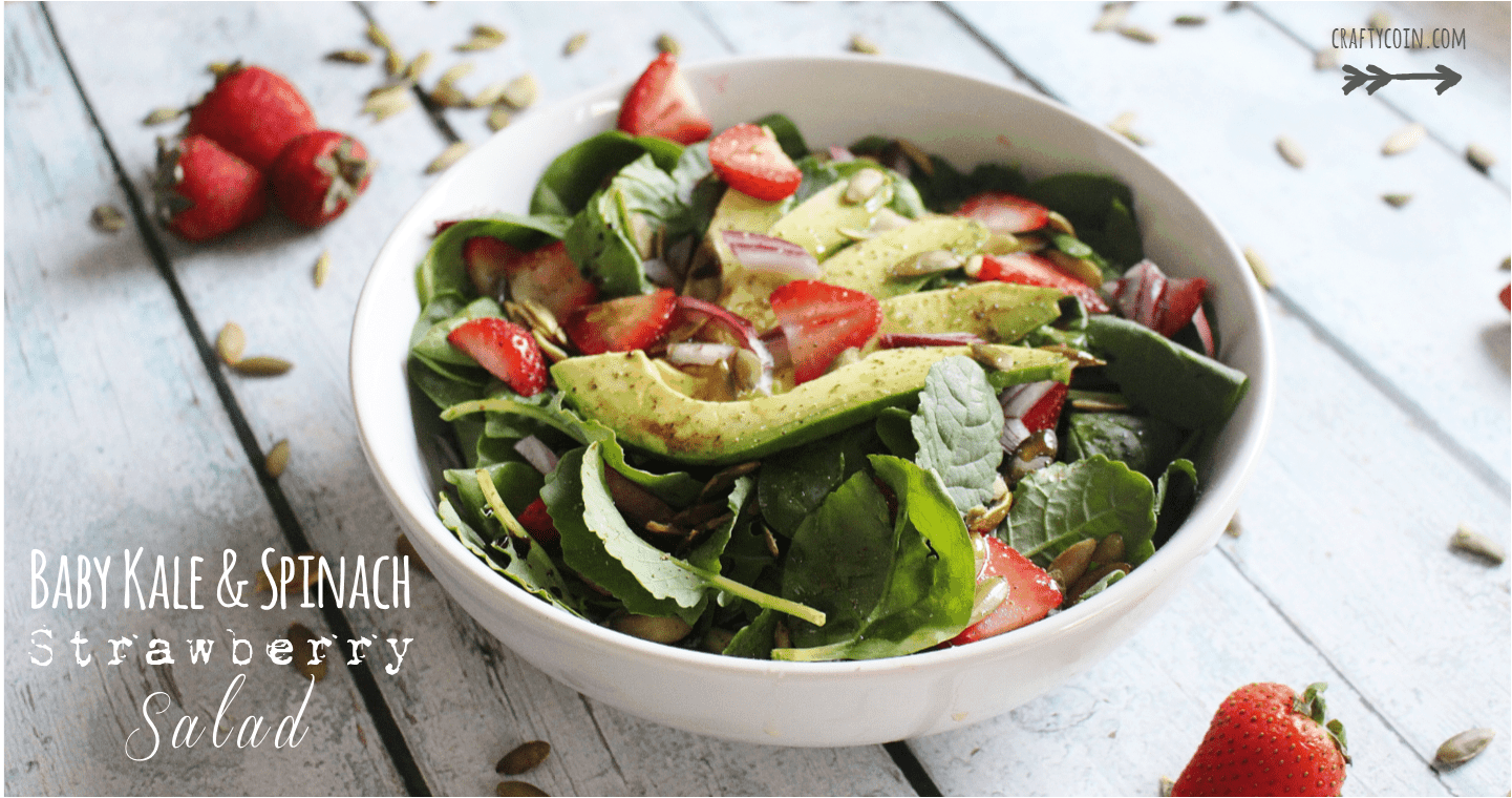 Baby Kale & Spinach Strawberry Salad