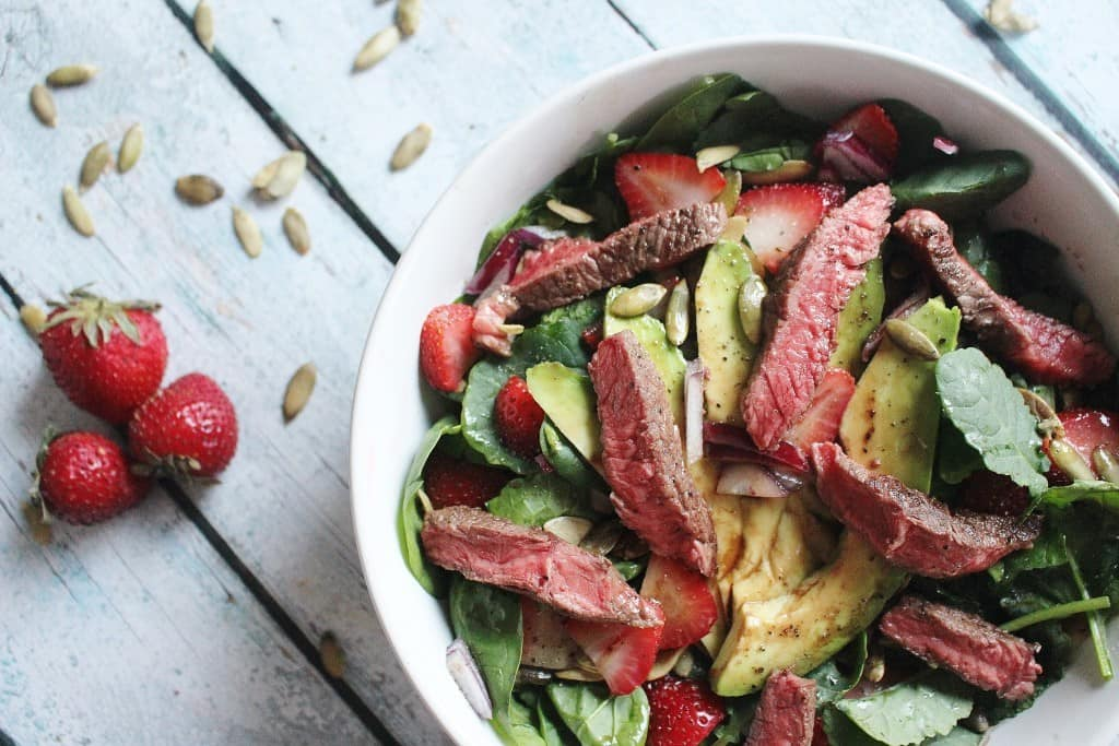 Strawberry Salad Steak (2)