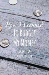 How I Learned to Budget My Money | Crafty Coin