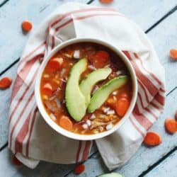 Slow Cooker Chicken & Salsa Soup