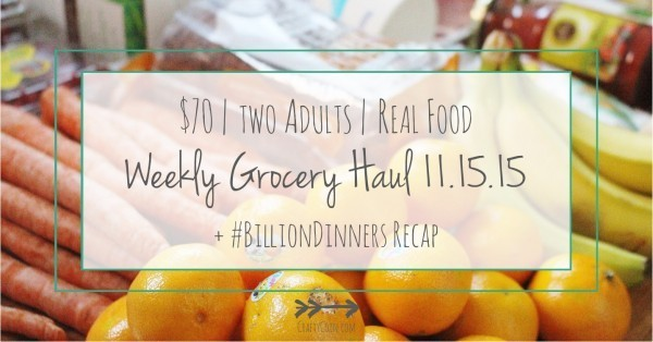Grocery Haul 11.15.15 + #BillionDinners Recap | Crafty Coin