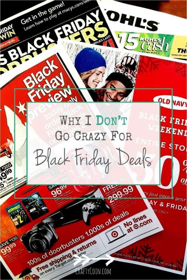 Why I Don't Go Crazy For Black Friday Deals | Crafty Coin