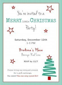 Merry Little Christmas Party Invite
