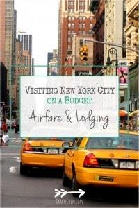 Here are my tips for getting affordable airfare and lodging in the Big Apple!