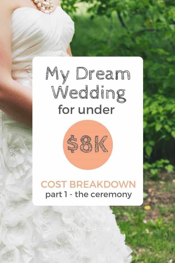 Here's the cost breakdown of everything I paid for my wedding. I planned my wedding for under $8,000 - and it was everything I could have dream it would be!