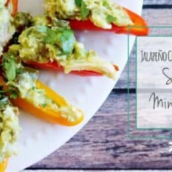 Jalapeño Chicken & Guacamole Stuffed Mini Peppers