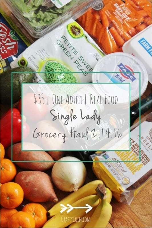 Single Lady Grocery Haul 2.14.16 - Crafty Coin