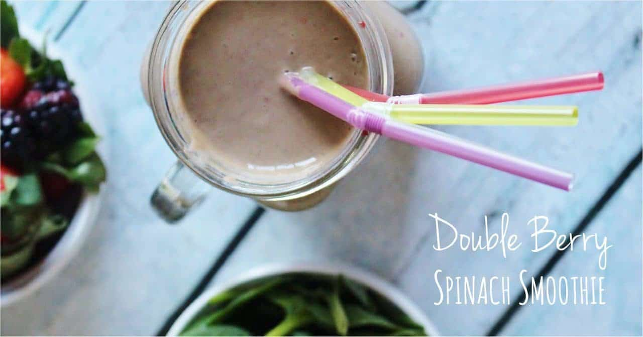 Double Berry Spinach Smoothie