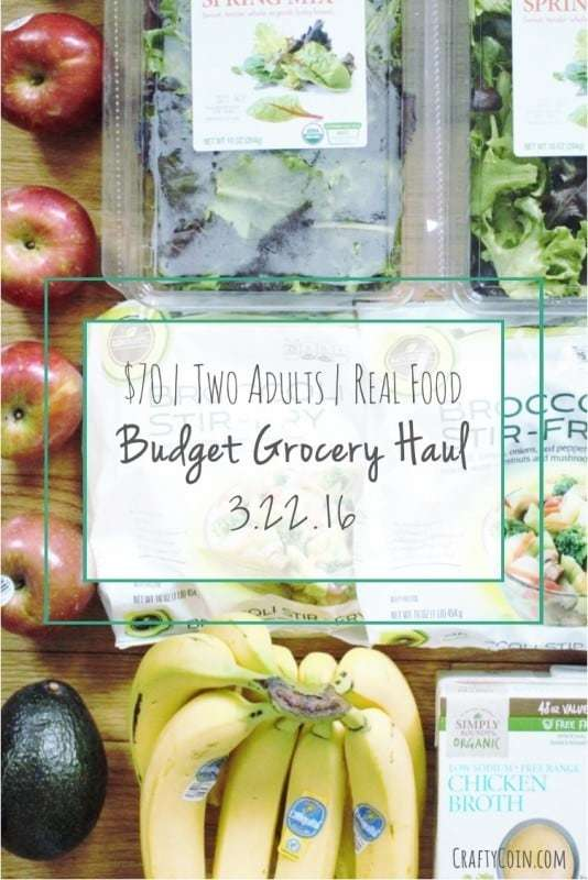Healthy Budget Grocery Haul 3.22.16 - Crafty Coin