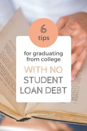 You don't have to go into debt in order to get a college degree! Here are 6 tips for graduating from college with no student loans (like buying & selling books online).