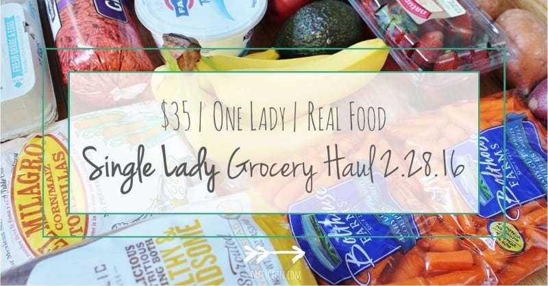 Single Lady Grocery Haul 2.28.16 - Crafty Coin