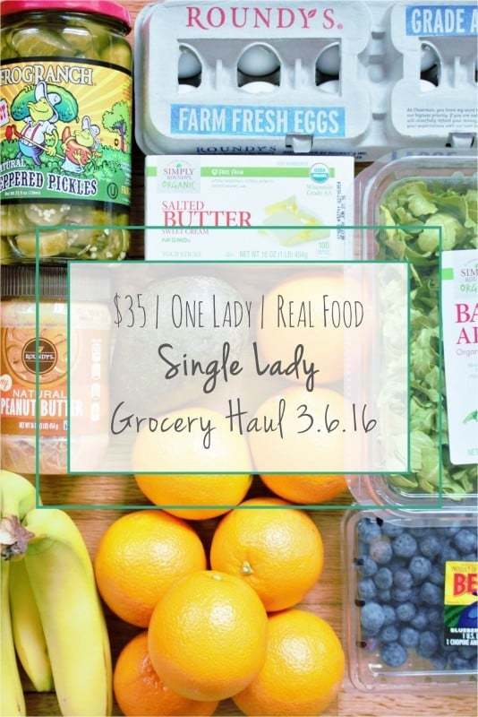 Single Lady Grocery Haul 3.6.16 - Crafty Coin