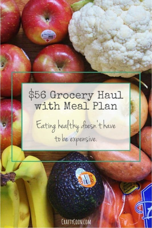 $56 Grocery Haul with Meal Plan