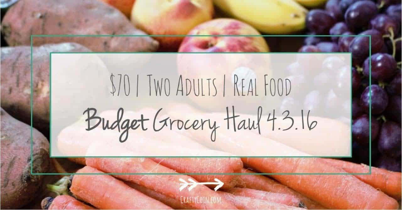 Budget Grocery Haul // Week of 4 3 16 - Crafty Coin