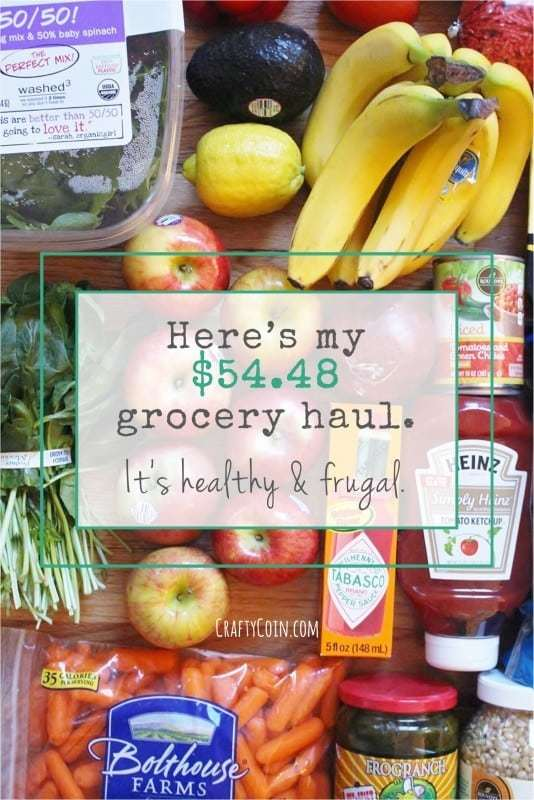 Here's my $54.48 grocery haul. It's healthy and frugal.