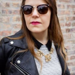 Frugal Fashion: Pleather & Crew Necks
