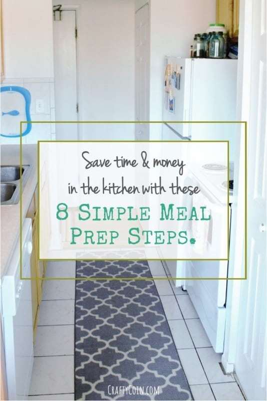 Save time and money in the kitchen with these 8 simple meal prep steps.
