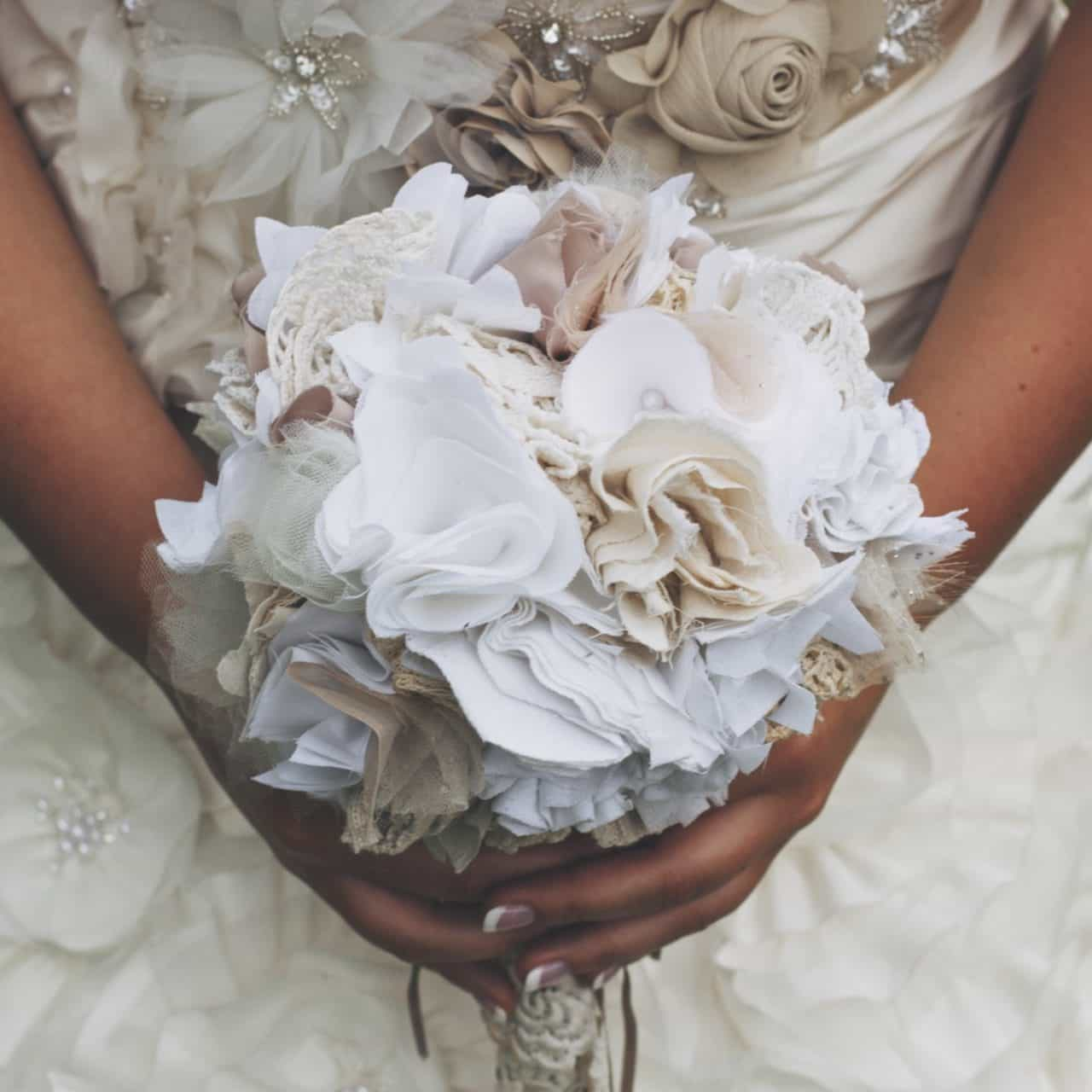 Budget Wedding - Bridal Fabric Bouquet
