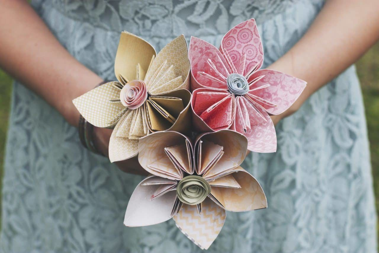 Budget Wedding - Paper Flower Bouquet