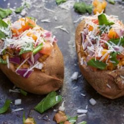 Stuffed Sweet Potatoes (in 15 minutes)