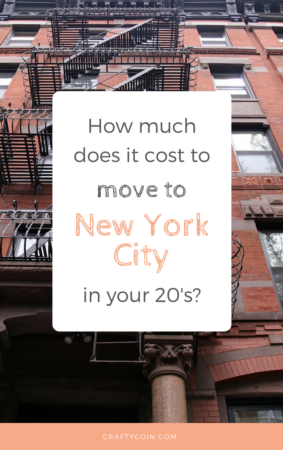 How Much Does It Cost to Move to NYC in Your 20's?
